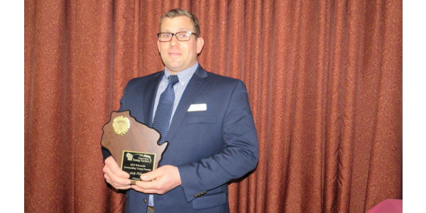 Andy Fisher of Reedsville is the winner of the 2018 Wisconsin Outstanding Young Farmer award. (Courtesy of WOYF)