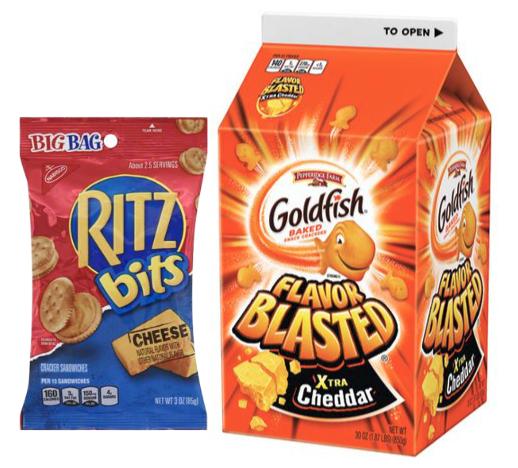 Ritz and Goldfish crackers recall